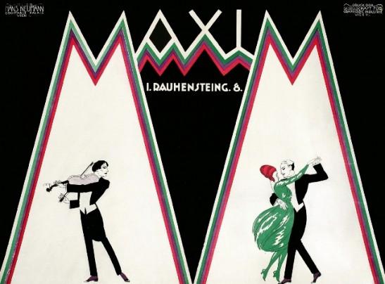 vintage poster, Maxim by Hans Neumann