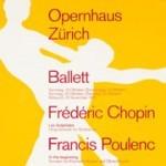 vintage poster, Opernhaus Zurich Ballett by Muller-Brockmann