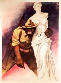vintage poster, Italian War