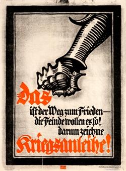 Vintage poster, Das Kriegsanleihe by Lucien Bernhard