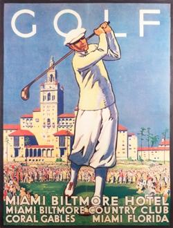 vintage poster, Gold, Miami Biltmore