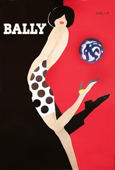 Villemot, vintage Bally poster