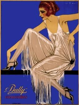 Ribas, vintage Bally poster