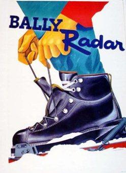 Bally Radar, vintage poster