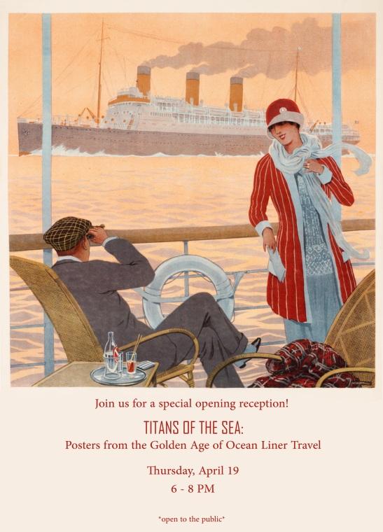 Vintage Ocean Liner Posters, Opening Reception
