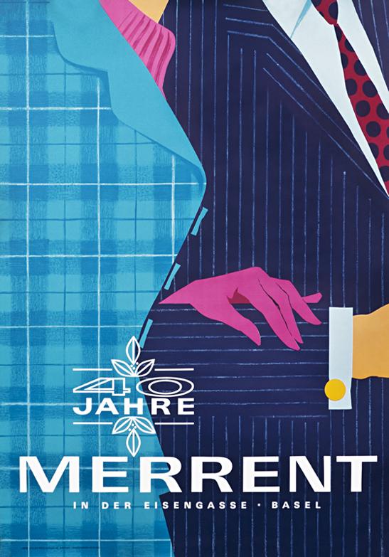 vintage poster, Buhler Merrent