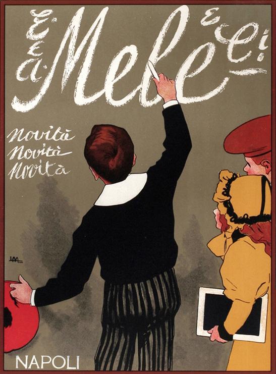 vintage poster, Metlicovitz, Mele